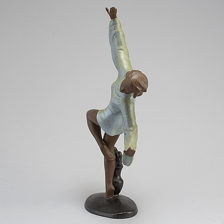 A second quarter of the 20th century ceramic figurine, probably austria.