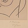 """Henri matisse, """"tête voilée"""" from: etudes pour la vierge."""