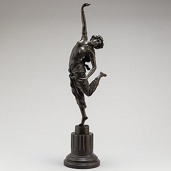 CLAIRE JEANNE ROBERTE COLINET, Efter. Skulptur, brons, höjd 64 cm.