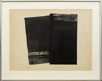 HANS HARTUNG, lithograph signed and numbered 14/75.