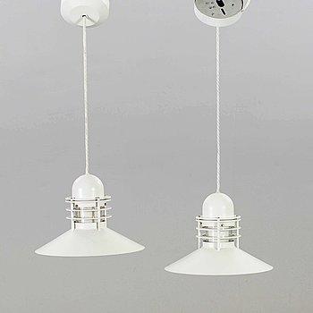 "ALFRED HOMANN & OLE V KJÆR, A PAIR OF LOUIS POULSEN ""NYHAVN"" CEILING LAMPS."