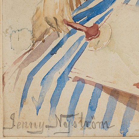 Jenny nyström, jenny nystrÖm, signed jenny nyström. probably executed around 1885