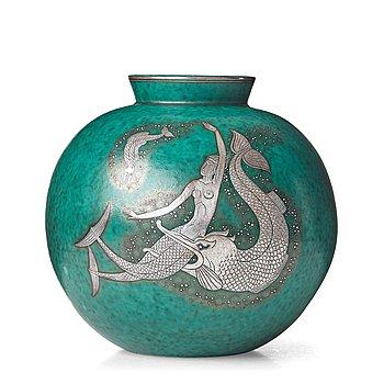 """52. Wilhelm Kåge, a stoneware """"Argenta"""" vase, Gustavsberg, Sweden 1949."""