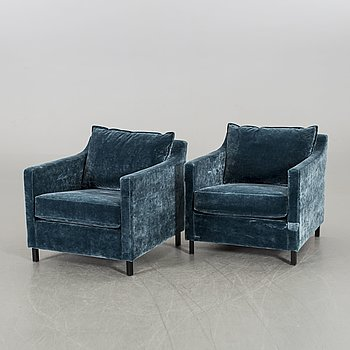 A PAIR OF EASY CHAIRS FROM SLETTVOLL 2010'S.