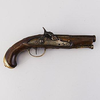 SLAGLÅSPISTOL, Charles Bauduin, 1700-talets slut.