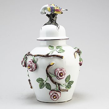 A Swedish 20th century vase and cover.