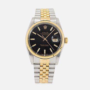 ROLEX, Oyster Perpetual, Datejust, wristwatch, 35.5 mm.