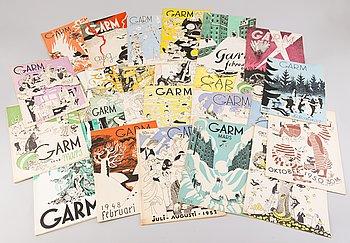 SAMLING GARM-TIDNINGAR, 40 st, illustretad av Tove Jansson 1942-1952.