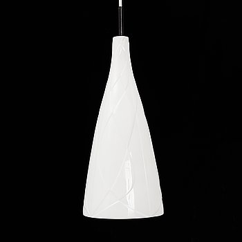 A ceiling lamp in porcelain, designed by Carl-Harry Stålhane for Rörstrand, 1950s.