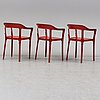 Ronan & erwan bouroullec, three 'steelwood' chairs from magis, italy.