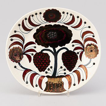 BIRGER KAIPIAINEN, a decorative ceramic plate, signed, numbered 366/2000, Arabia 1980 Made in Finland.
