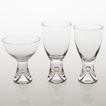 TAPIO WIRKKALA, a 24 piece glassware set of 'Tapio', Iittala.