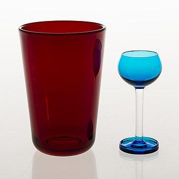 Drinking glasses, 8+6, designed by Nanny Still and Kaj Franck, Finland 1950s-1960s.