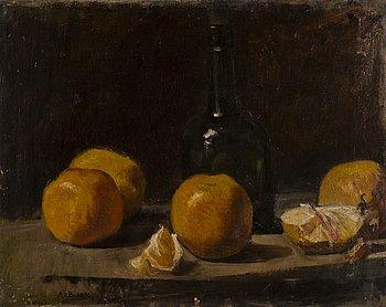 ADOLF VON BECKER, olja på duk uppfodrad på pannå, signerad och daterad 1896.
