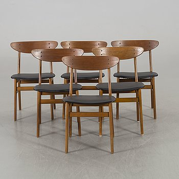 A SET OF SIX FASTRUP CHAIRS.