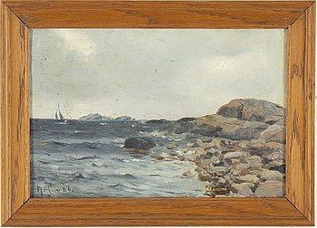 GUSTAVE ALBERT, olja på konstnärspannå, signerad AA.