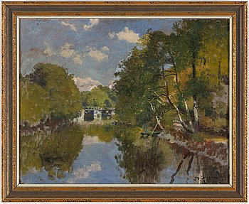 JOHAN ERICSON, oil on paner, signed and dated 1905.