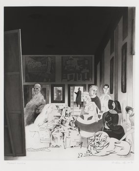 """410. Richard Hamilton, """"Picasso's Meninas"""", from: """"Hommage à Picasso""""."""