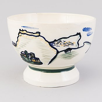 GERDA THESLEFF, a ceramic bowl signed GT, Arabia.