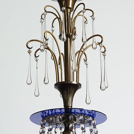 A swedish grace chandelier, 1920-30's.