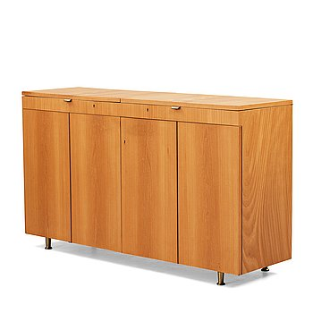 236. Bruno Mathsson, an elm veneered Swedish Modern sideboard executed by Karl Mathsson, Värnamo, Sweden 1938.