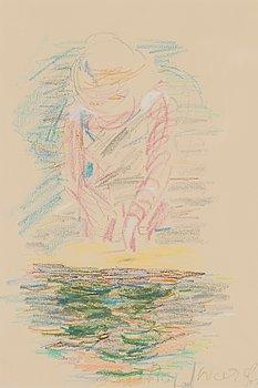 RAFAEL WARDI, färgkrita, signerad och daterad -59.