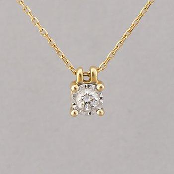 A PENDANT, brilliant cut diamond, 18K gold.