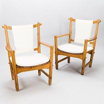LASSE OLLINKARI, fåtöljer, ett par, 1948.