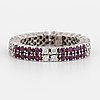 Ruby and brilliant cut diamond ring