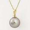 Cultured tahiti pearl pendant