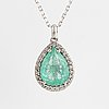 An 18k gold necklace with a faceted emerald 3.93 cts.