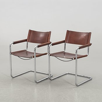 A PAIR OF MATTEO GRASSI ARMCHAIRS.