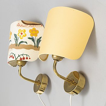 JOSEF FRANK, a pair of model 2143 wall lights, Firma Svenskt Tenn.