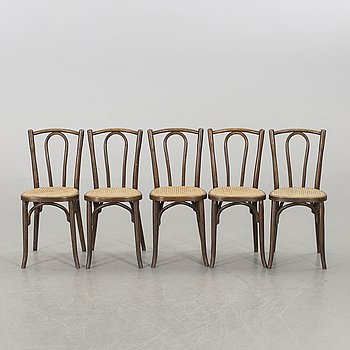 A set of five Baumann Jugend chairs eraly 1900's.
