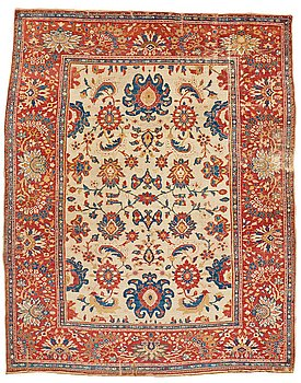 274. A CARPET, an antik Ziegler Mahal, ca 419,5 x 323,5 cm (as well as 1 cm flat weave at the ends).