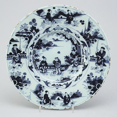 A delft faiance dish, 18th century.