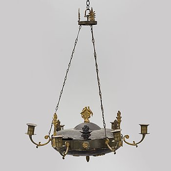 A hanging lamp, empire-style, first half of the 20th century.