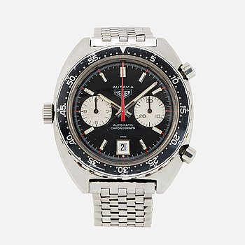 HEUER, Autavia, kronograf, armbandsur, 42 mm.