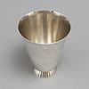 Sigvard bernadotte, a no. 823 sterling silver beaker for georg jensen & wendel, 1945 51