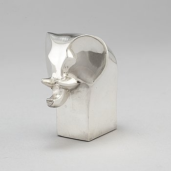 GUNNAR CYRÉN, a zinc silverplate elephant sculpture by Dansk design Japan.