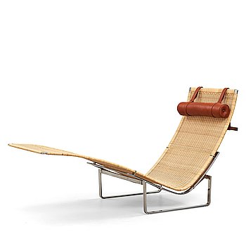 """10. Poul Kjaerholm, """"Pk-24"""", Hammock chair, Fritz Hansen, Danmark 1999."""
