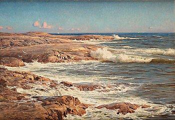 364. Johan Krouthén, Rocks by the sea, Marstrand.