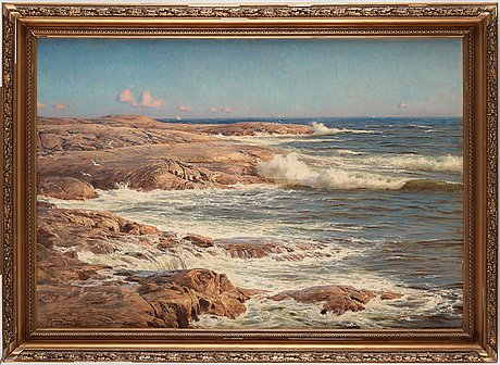 Johan krouthén, rocks by the sea, marstrand.