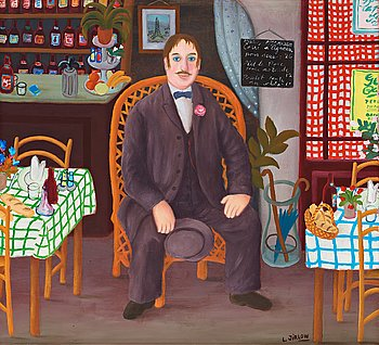 617. Lennart Jirlow, Man in restaurant.