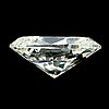 An oval brillant-cut diamond 2.94 cts quality ca k/l - si2/p1.