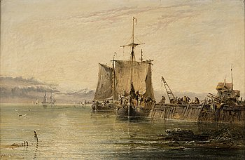 ARTHUR JOSEPH MEADOWS, olja på duk, signerad och daterad 1874.