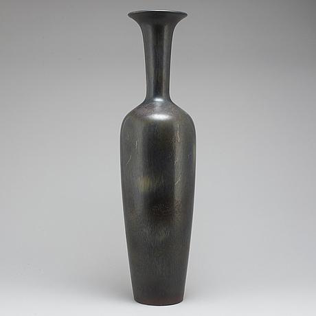 Gunnar nylund, a stoneware floor vase, rörstrand 1950-60's.