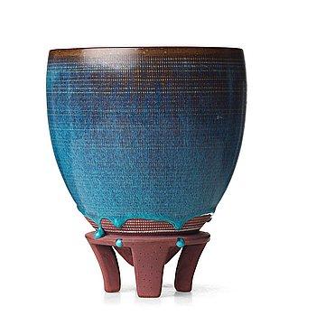 "57. Wilhelm Kåge, a ""Farsta"" stoneware vase, Gustavsberg studio, Sweden 1950's."