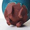 "Wilhelm kåge, a ""farsta"" stoneware vase, gustavsberg studio, sweden 1950's."