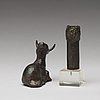 Two bronze animal figurines, ming dynasty or older.